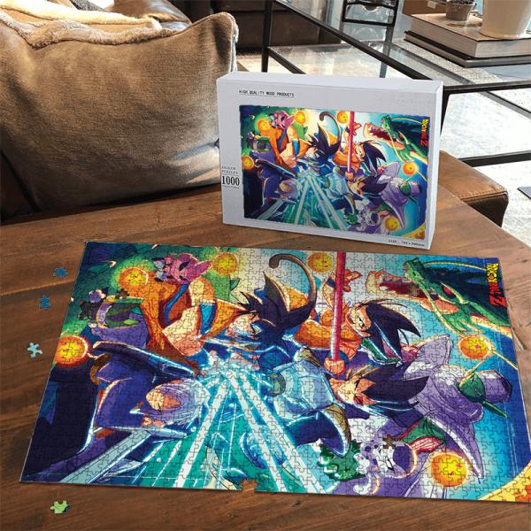 DBZ Art Classic Z Fighters Team With Kid Goku Portrait Puzzle - Saiyan Stuff