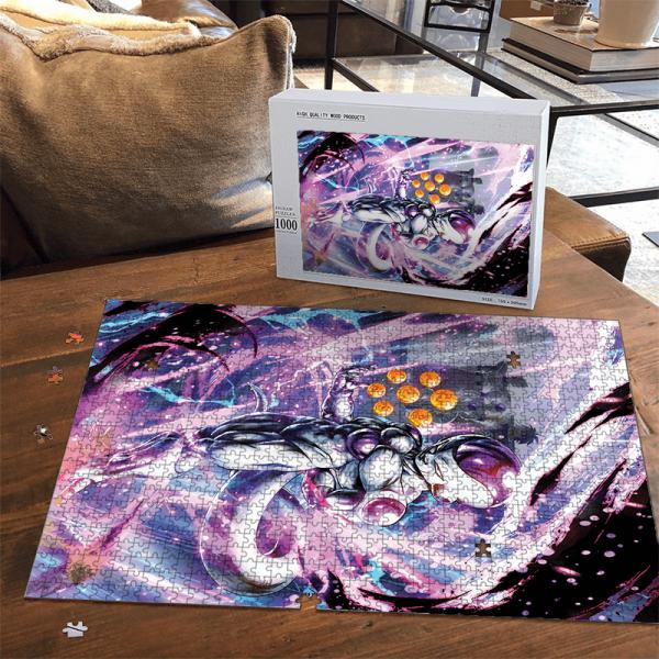 DBZ Frieza With Complete Dragon Balls Amazing Portrait Puzzle - Saiyan Stuff