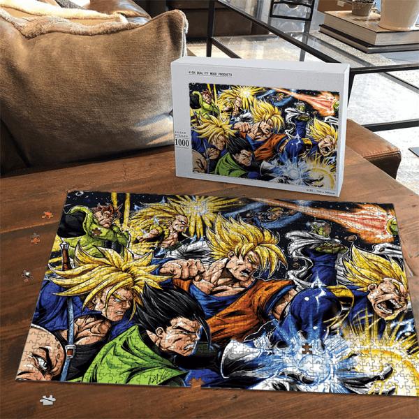 DBZ Goku Future Trunks Gohan Vegeta Gotenks Piccolo Comics Puzzle - Saiyan Stuff
