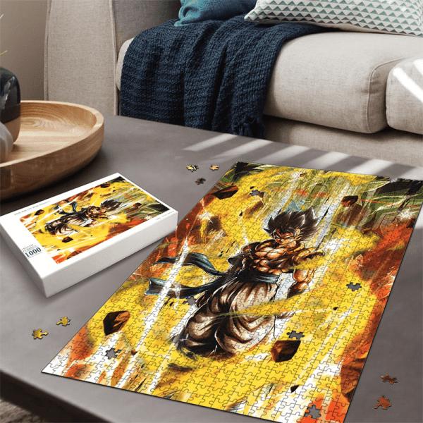 DBZ Goku Vegeta Dance Fusion Gogeta Portrait Epic Puzzle - Saiyan Stuff