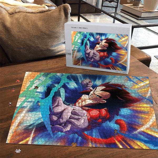 DBZ Vegeta Super Saiyan 4 Striking Pose Fantastic Portrait Puzzle - Saiyan Stuff