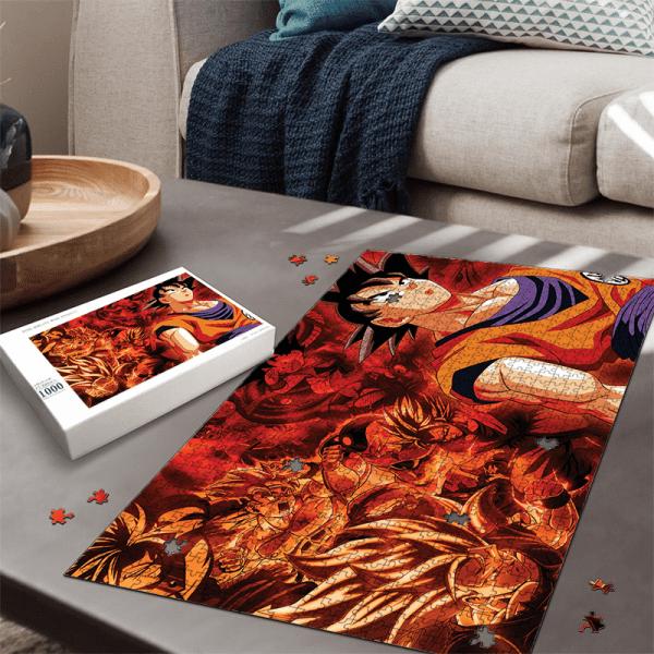 Dragon Ball All Son Goku Transformation Montage Art Puzzle - Saiyan Stuff