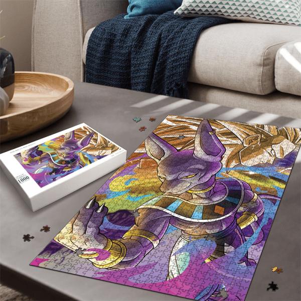Dragon Ball Beerus God Of Destruction With Goku SSJ3 Awesome Puzzle - Saiyan Stuff