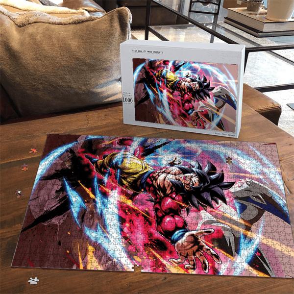 Dragon Ball GT Son Goku Saiyan 4 Omega Shenron Portrait Puzzle - Saiyan Stuff