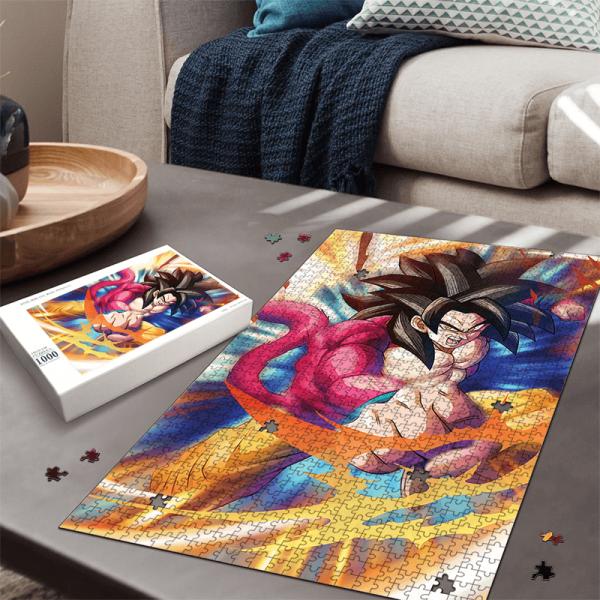 Dragon Ball GT Son Goku Super Saiyan 4 Amazing Portrait Puzzle - Saiyan Stuff