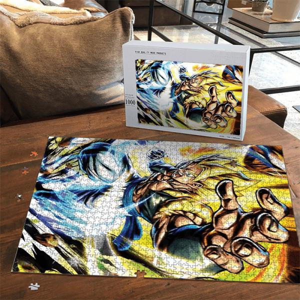 Dragon Ball Gogeta SSG2 Energizing Portrait Puzzle - Saiyan Stuff