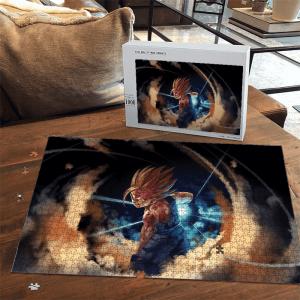 Dragon Ball Kid Gohan SSJ2 Battle Mode Awesome Puzzle - Saiyan Stuff