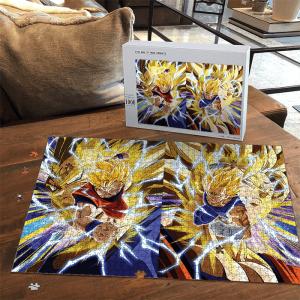 Dragon Ball Majin Vegeta Son Goku Dokkan Art SSJ2 Puzzle - Saiyan Stuff