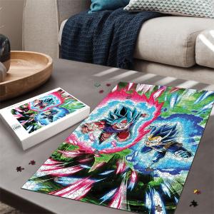 Dragon Ball Son Goku And Vegeta Attack Mode SSGSS Puzzle - Saiyan Stuff