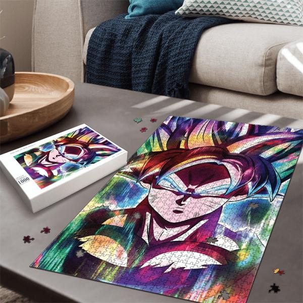 Dragon Ball Son Goku Explosive Rainbow Colors Fantastic Puzzle - Saiyan Stuff