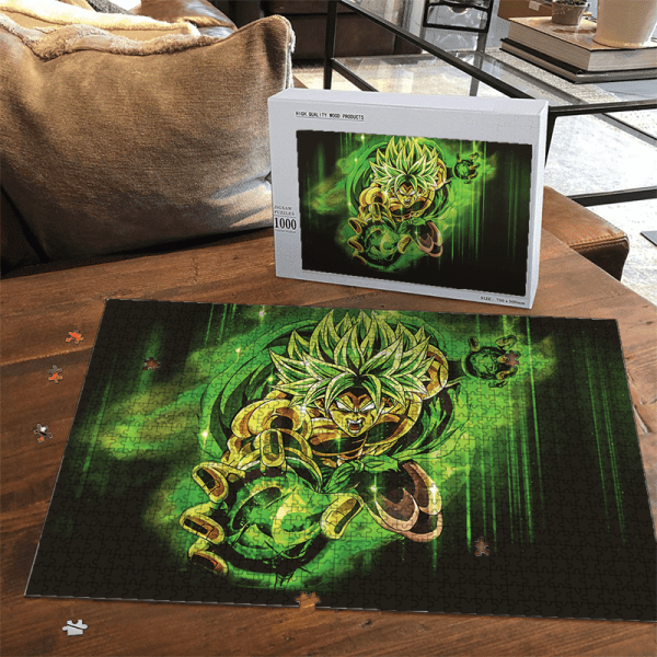 Dragon Ball Super Broly Green Ball Of Energy Landscape Puzzle - Saiyan Stuff