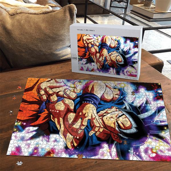 Dragon Ball Super Goku Ultra Instinct Colorful Portrait Puzzle - Saiyan Stuff