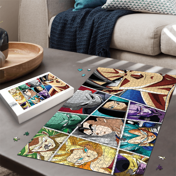 Dragon Ball Super Universe All-Star Characters Awesome Puzzle - Saiyan Stuff
