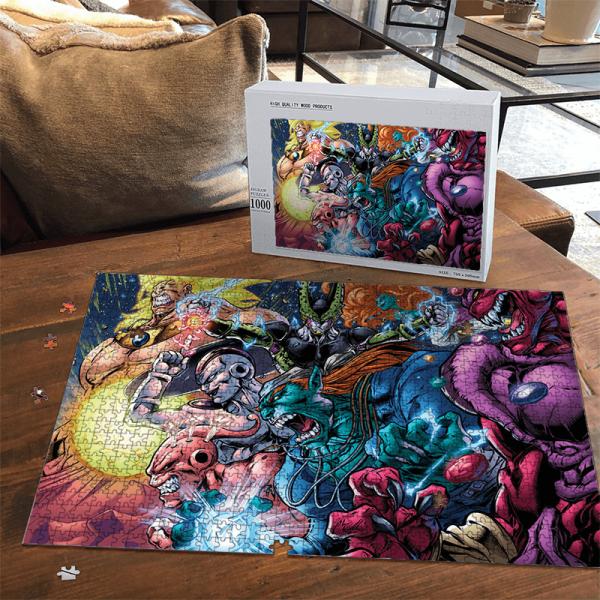 Dragon Ball Villains Cell Buu Frieza Broly Comic Style Artwork Puzzle - Saiyan Stuff