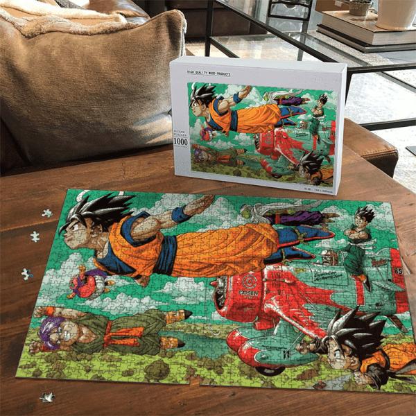 Dragon Ball Z Angel Goku Flying With Friends Landscape Puzzle - Saiyan Stuff