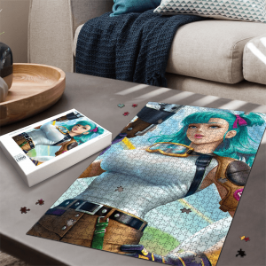 Dragon Ball Z Beautiful Bulma 3D Render Adorable Portrait Puzzle - Saiyan Stuff
