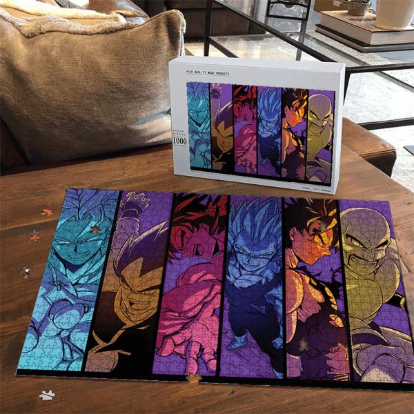 Dragon Ball Z Broly Vegeta Goku Nappa Raditz Cool Puzzle - Saiyan Stuff