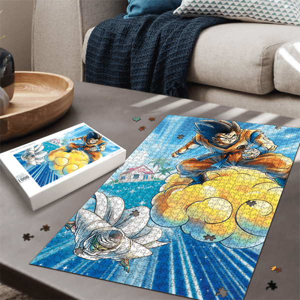 Dragon Ball Z Flying Goku And Piccolo Amazing Portrait Puzzle - Saiyan Stuff