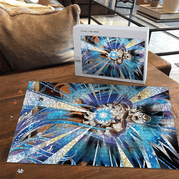 Dragon Ball Z Goku Kamehameha Dokkan Art Dope Puzzle - Saiyan Stuff
