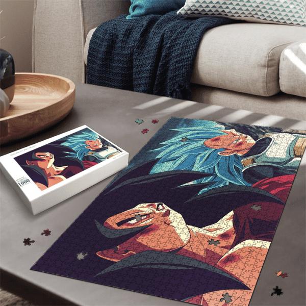 Dragon Ball Z Goku SSJ4 Vegeta Super Saiyan Blue Fan Art Puzzle - Saiyan Stuff