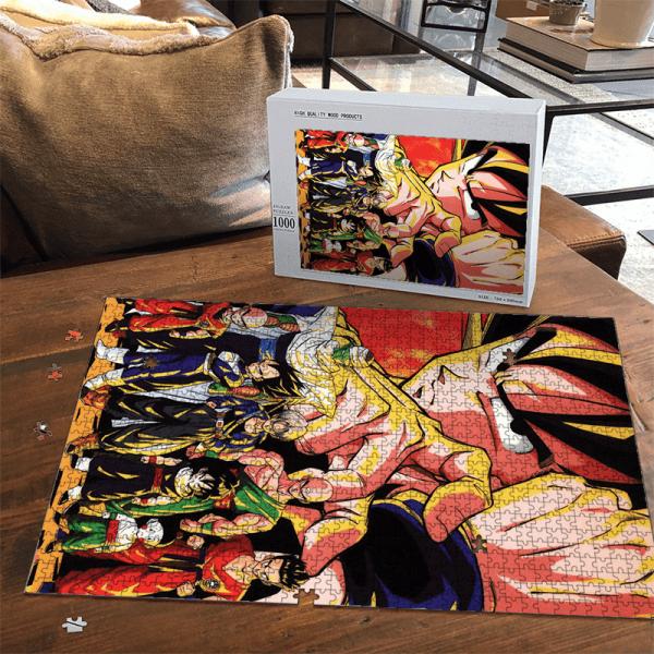 Dragon Ball Z Goku Vegeta Piccolo And Others Cool Portrait Puzzle - Saiyan Stuff