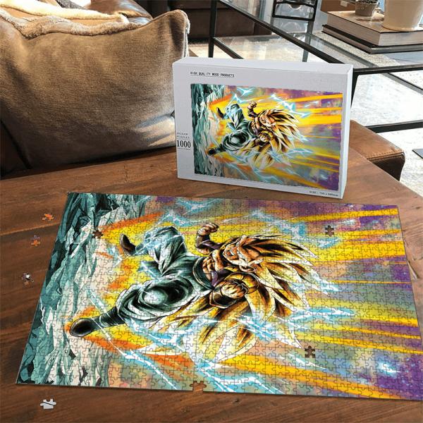 Dragon Ball Z Gotenks Super Saiyan 3 Dope Portrait Puzzle - Saiyan Stuff