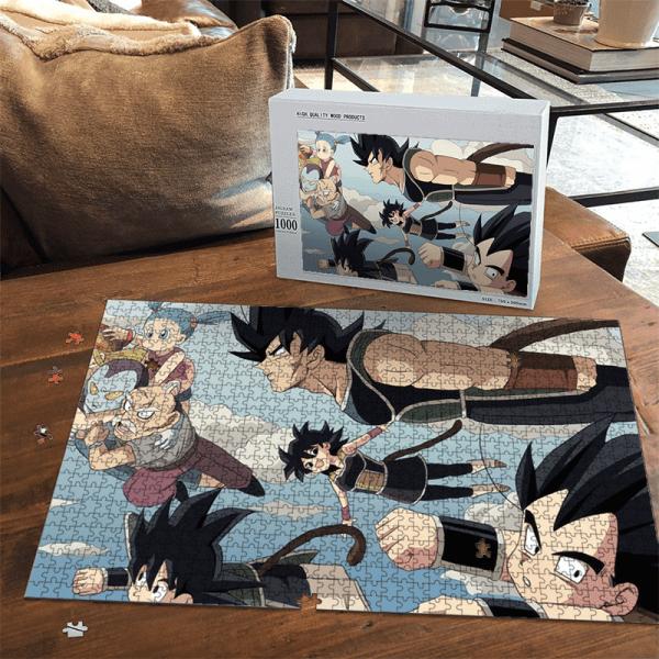 Dragon Ball Z Kid Goku Gine Bardock Vegeta Bulma Puzzle - Saiyan Stuff
