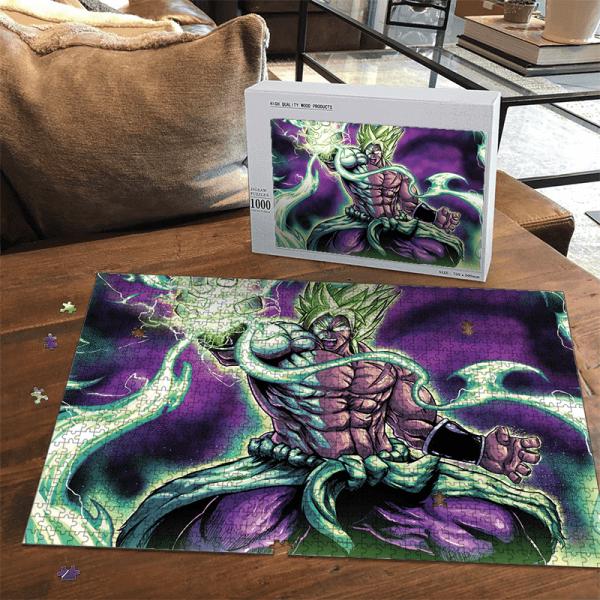 Dragon Ball Z Legendary Broly Green Aura Charge Dope Puzzle - Saiyan Stuff