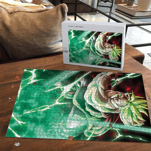 Dragon Ball Z Legendary Broly SSJ2 Green Aura Puzzle - Saiyan Stuff