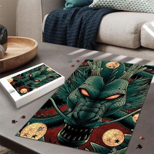 Dragon Ball Z Mighty Powerful Shenron Green Red Puzzle - Saiyan Stuff