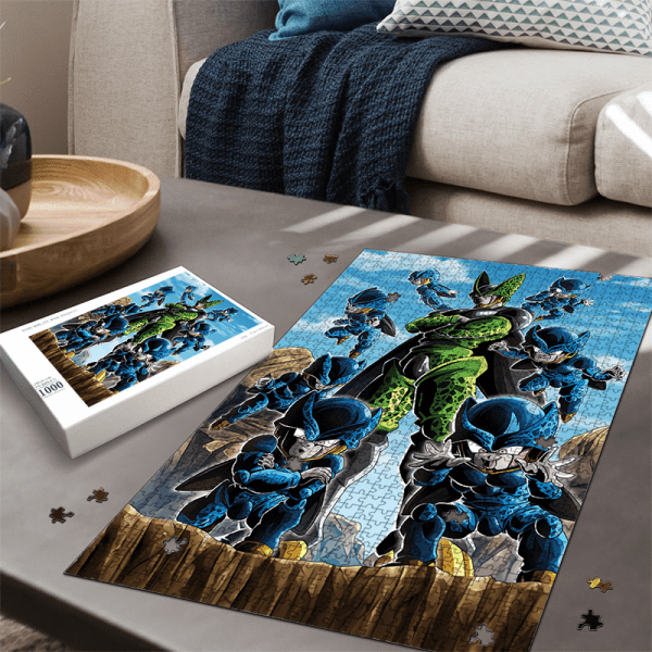 Dragon Ball Z Perfect Cell And Cell Junior Amazing Portrait Puzzle - Saiyan Stuff