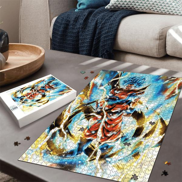 Dragon Ball Z Son Goku Super Saiyan Blue Awesome Portrait Puzzle - Saiyan Stuff