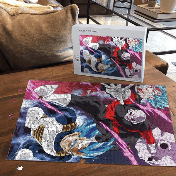 Super Saiyan Blue Goku Vegeta VS Jiren Dragon Ball Puzzle - Saiyan Stuff
