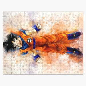 Goku - Dragon Ball Z watercolor Jigsaw Puzzle RB0605 product Offical Anime Puzzles Merch