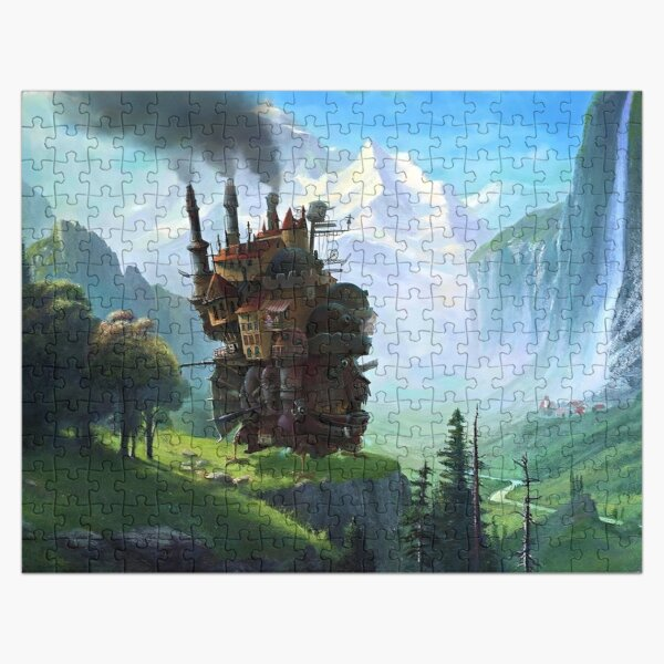 Aesthetics Moving Castle In Forest Jigsaw Puzzle RB0605 product Offical Anime Puzzles Merch