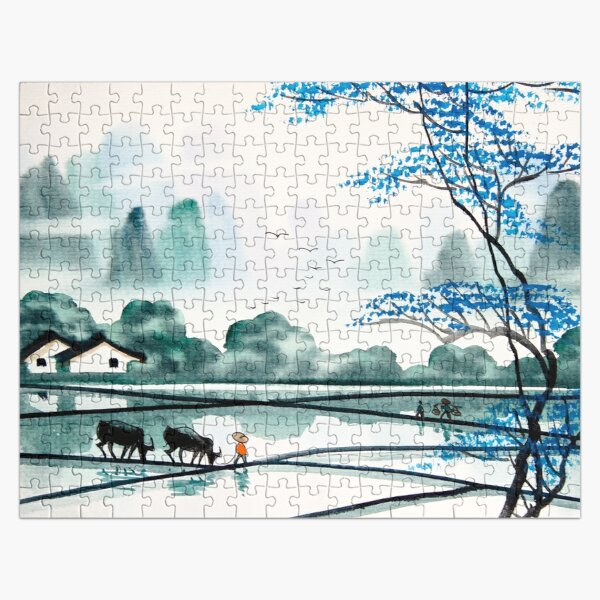 Japanese Landscape Art   Jigsaw Puzzle RB0605 product Offical Anime Puzzles Merch
