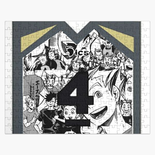 Bokuto jersey collage  Jigsaw Puzzle RB0605 product Offical Anime Puzzles Merch