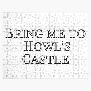 Bring me to Howl's Castle - Black and White Jigsaw Puzzle RB0605 product Offical Anime Puzzles Merch