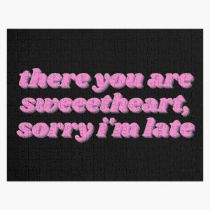 There You Are Sweetheart, Sorry I'm Late - Movie Quote Pink Script Jigsaw Puzzle RB0605 product Offical Anime Puzzles Merch