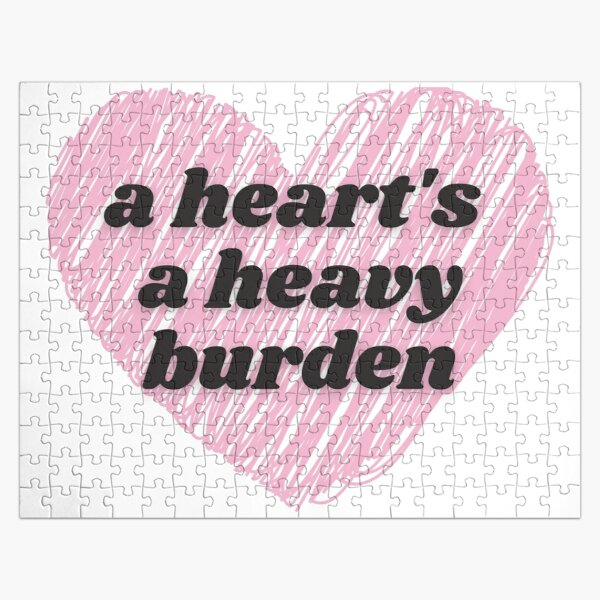 A Heart's A Heavy Burden - Heart Movie Quote Jigsaw Puzzle RB0605 product Offical Anime Puzzles Merch
