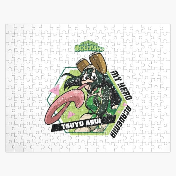 MY HERO ACADEMIA (BNHA): TSUYU ASUI (GRUNGE STYLE) Jigsaw Puzzle RB0605 product Offical Anime Puzzles Merch