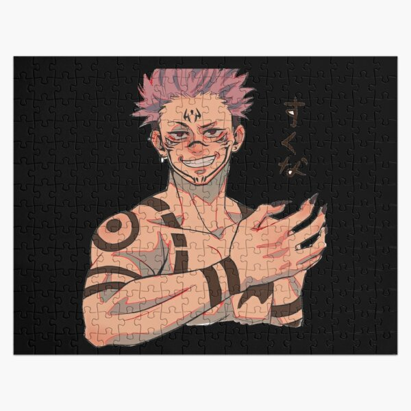Sukunaa face jujutsu kaisen cursed mode Jigsaw Puzzle RB0605 product Offical Anime Puzzles Merch