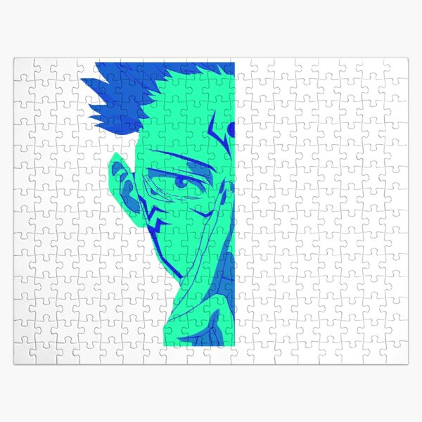 Blue face itadori Cursed demon - Funny jujutsu kaisen characters  Jigsaw Puzzle RB0605 product Offical Anime Puzzles Merch