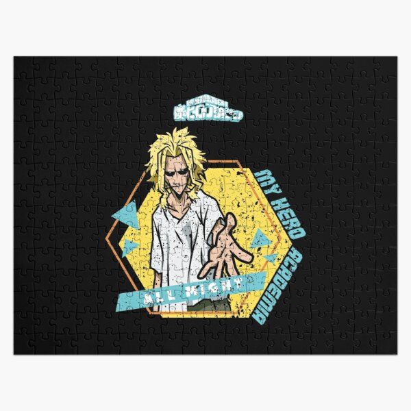 MY HERO ACADEMIA (BNHA): ALL MIGHT (BLACK) GRUNGE STYLE Jigsaw Puzzle RB0605 product Offical Anime Puzzles Merch
