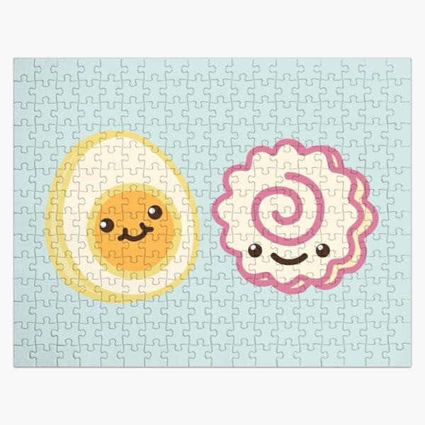 Narutomaki - Cute Fishcake and Egg - Kawaii food Jigsaw Puzzle RB0605 product Offical Anime Puzzles Merch